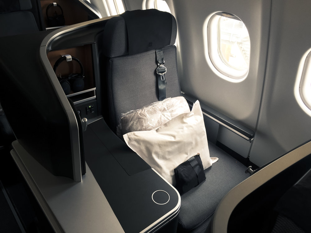A SAS business window seat, these are more private than window seats in the odd numbered rows, where the seat is on the aisle.