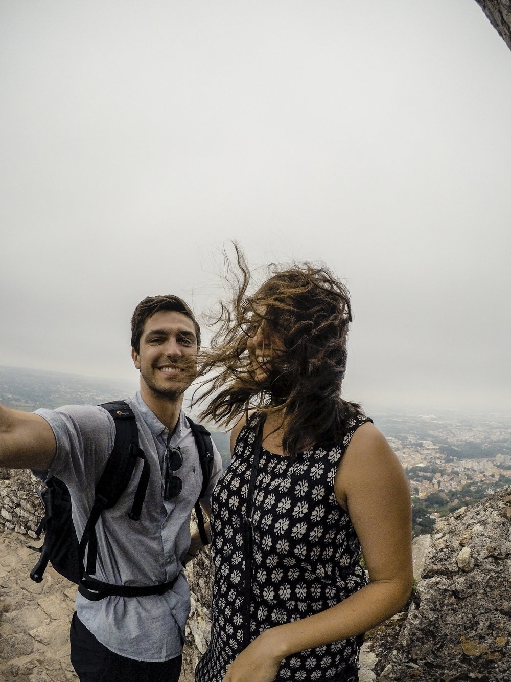It was really windy at the Moorish Castle
