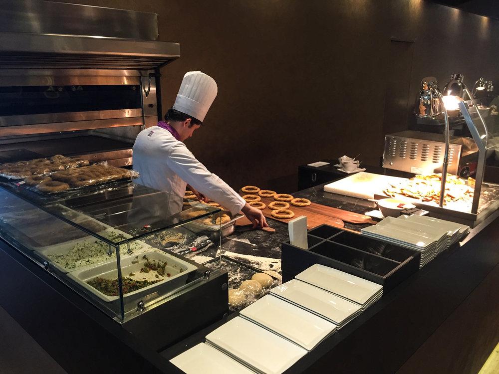 A Chef preparing Turkish delight