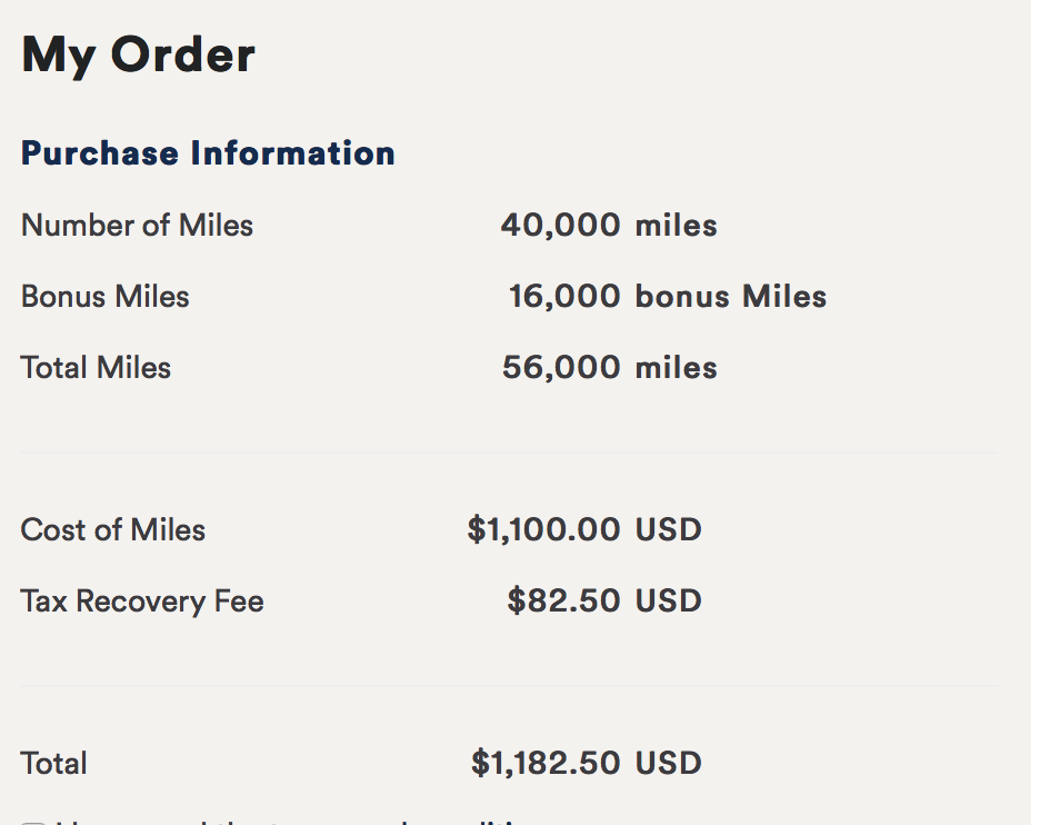 With the bonus, purchasing the miles becomes a clear choice.