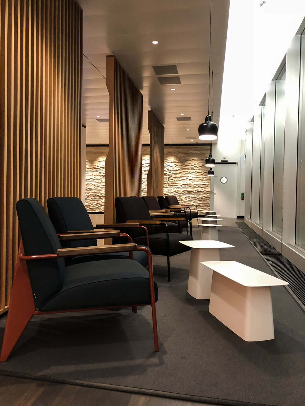 Swiss Business Class Lounge Seating in Zurich