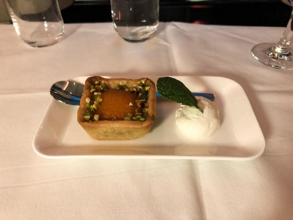 Swiss Business Class dessert