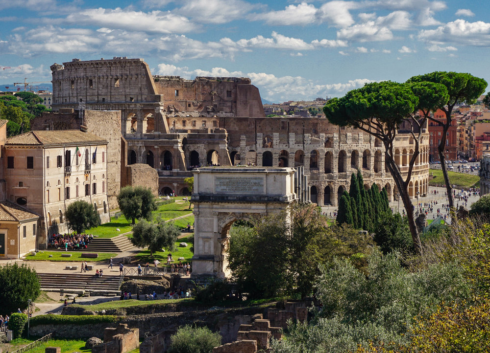 View of the Colosseum, from Palatine Hill