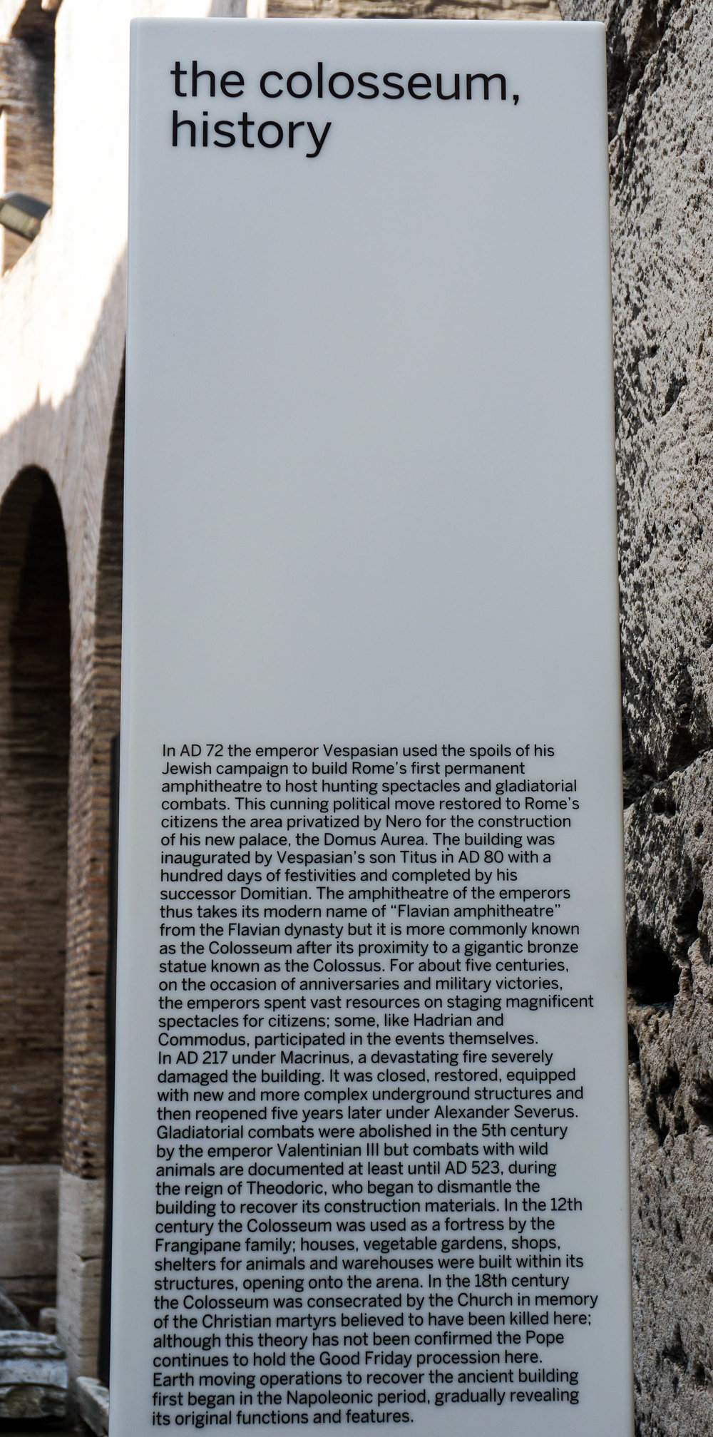 A bit of history on the Colosseum