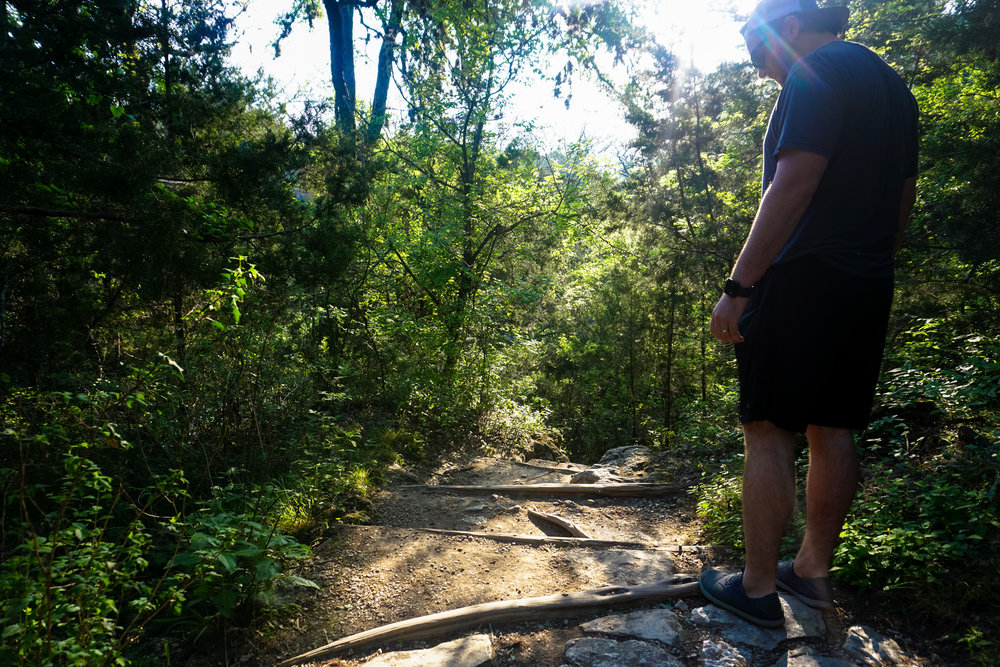Hiking to Hamilton Pool in Dripping Springs, Texas