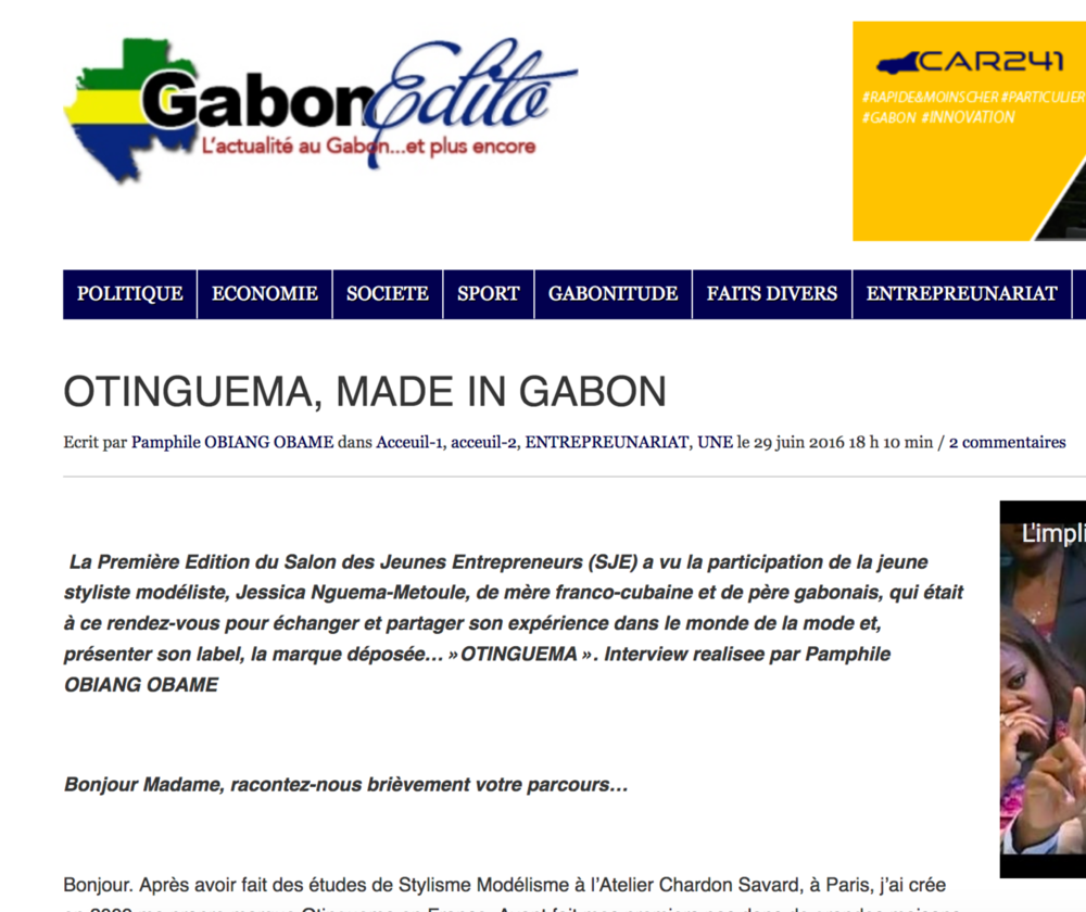 Gabon Edito - June 16