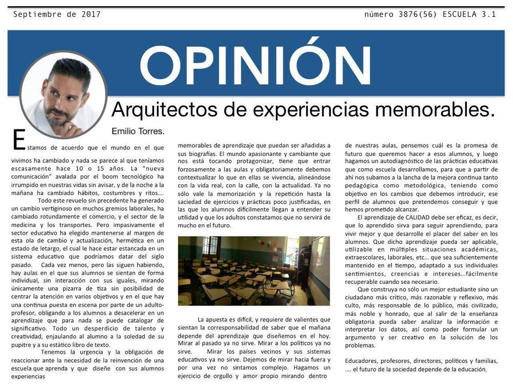 Revista Escuela 3.1, España.2017