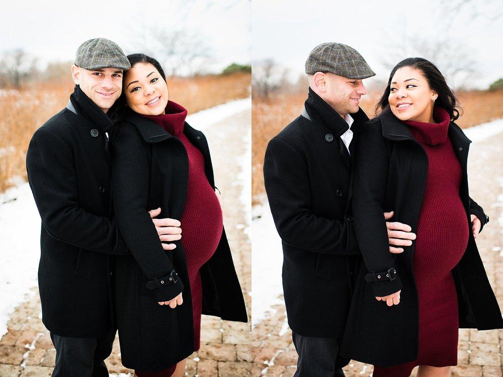 chicago maternity shoot couples maternity portrait winter maternity.jpg