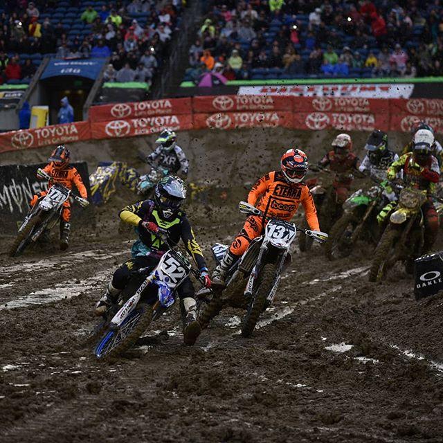 Click the link in the bio and check out the mud fest in Seattle. . . @skidsteersolutions @eterra_usa @racetracksupercross @twisteddevelopmentracing @yamahamotorusa @fmf73 @ridedunlop @enzoracingkyb @jepistons @matrixconcepts @avidmx @twin_air @motionpro @cometicgaskets @hinsonracing @galferusa @tagmetalsracing @tmdesignworks @worksconnection @motoseat @radikalracing @canvasmx @deftfamily @gaerne @btosports @xbrandgoggles @therideofmylife @rynopower @houseofmotorcycles @rynoglobal @racerxonline @vitalmx @dirtridermag @motocrossactionmag @vpracingfuels @monsterenergy @supercrosslive @mcastelo_ @justinhoeft @michael_leib #vortexcdi #worldwidebearing #jameslitho #sx #supercross #moto #sport #bike #sxonfox #sxlife #houseofmotorcycles