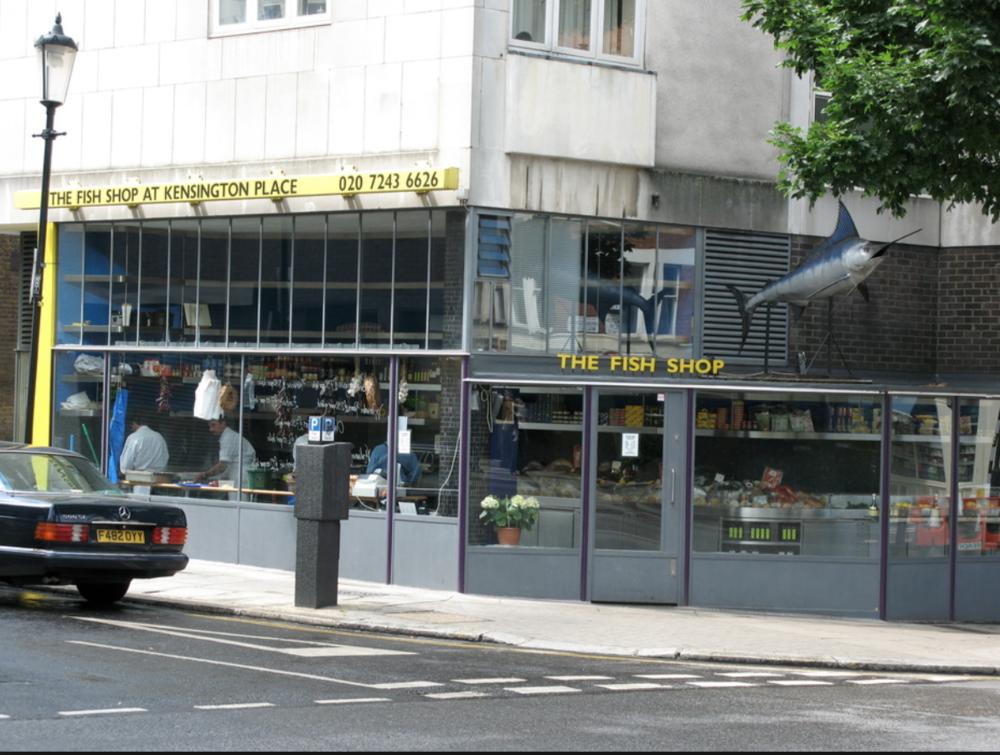 Kensington place fish shop notting hill