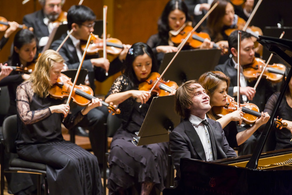 Rachmaninoff  (November 2015) featured 24-year-old Russian pianist Daniil Trifonov in three of the composer's piano concertos and the Rhapsody on a Theme of Paganini over the course of three consecutive all-Rachmaninoff programs, each led by a different conductor: Cristian Măcelaru, Neeme Järvi, and Ludovic Morlot.