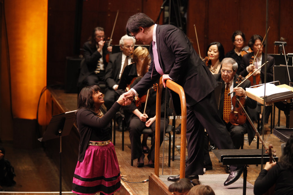 In 2011 Alan Gilbert led all six Philharmonic School Day Concerts (now known as Philharmonic Schools). The concerts introduced third through twelfth graders to Beethoven's  Pastoral  Symphony through the lens of people's relationship to nature and the environment, and showcased World Premieres by Philharmonic Very Young Composers ages 10 to 12.