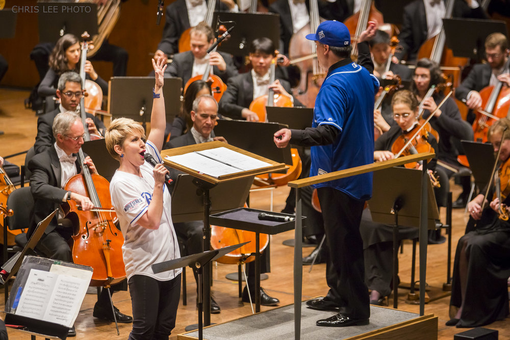 "When the New York Mets faced off against the Kansas City Royals in the 2015 World Series, the Kansas City Symphony challenged the New York Philharmonic: if the Mets won, the Kansas City Symphony would send KC barbecue and perform; if the Royals won, the Philharmonic would send NYC's finest bagels and lox and perform ""Everything's Up to Date in Kansas City"" from  Oklahoma! . Well, the Mets lost, and who better to join Alan Gilbert and the Orchestra than mezzo-soprano and KC-native Joyce DiDonato, who had previously performed with them in New York and on tour."