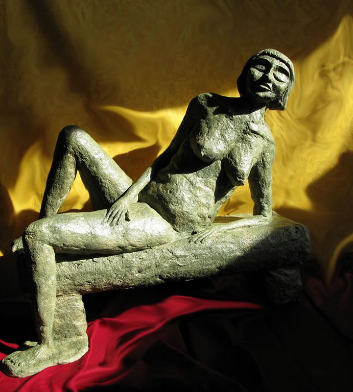 Declining Nude Serenity