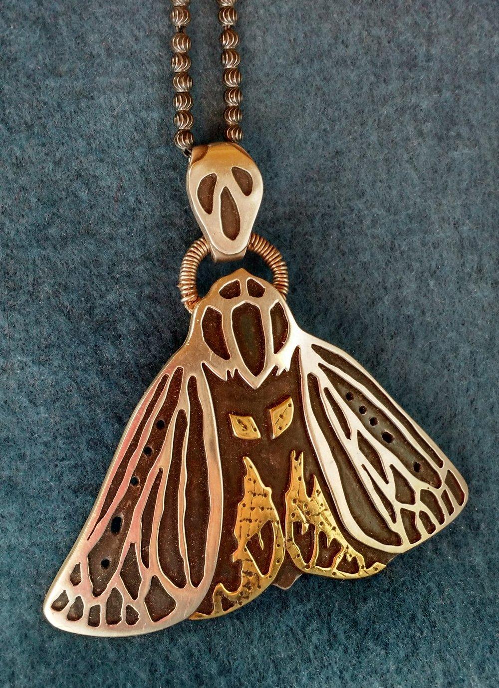 Tiger Moth Pendant