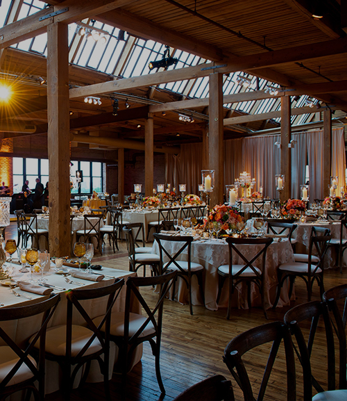 colorful skyline loft wedding - bridgeport art center  chicago