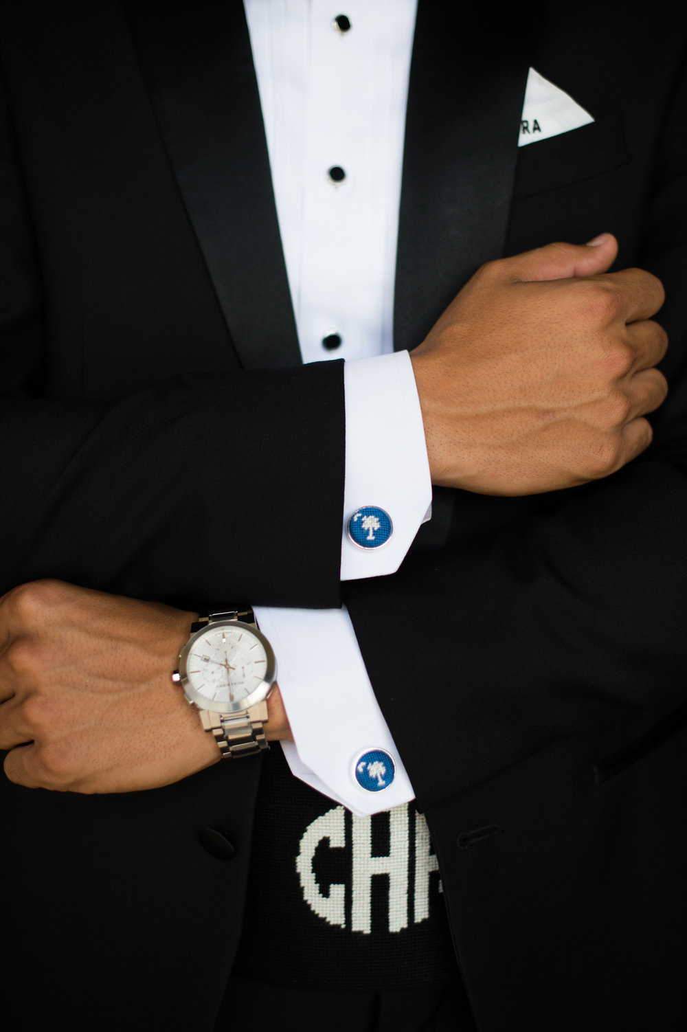 groom's kiawah island wedding cufflinks
