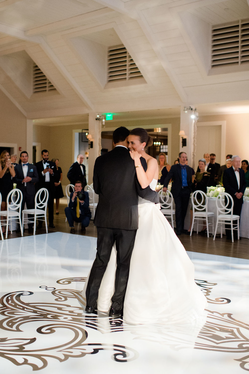 Bride and groom's first dance at Kiawah Island Golf Resort River Course.