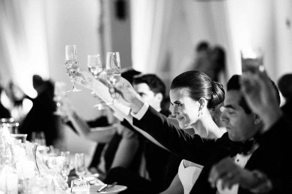 Toasts at Kiawah Island wedding.