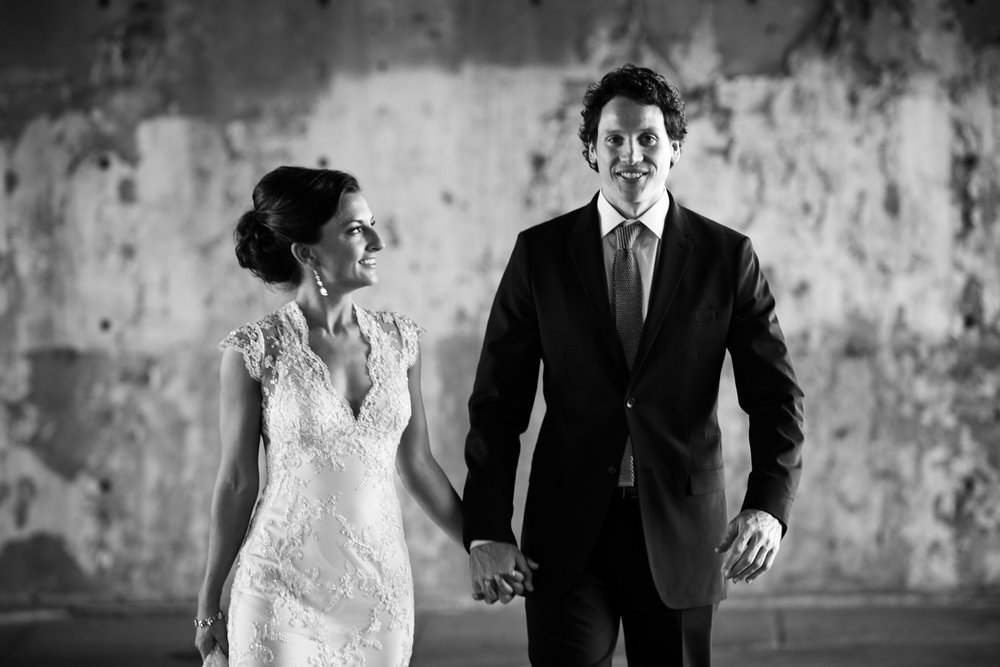 Documentary wedding photography of a couple on their wedding day in Chicago at Morgan Manufacturing.