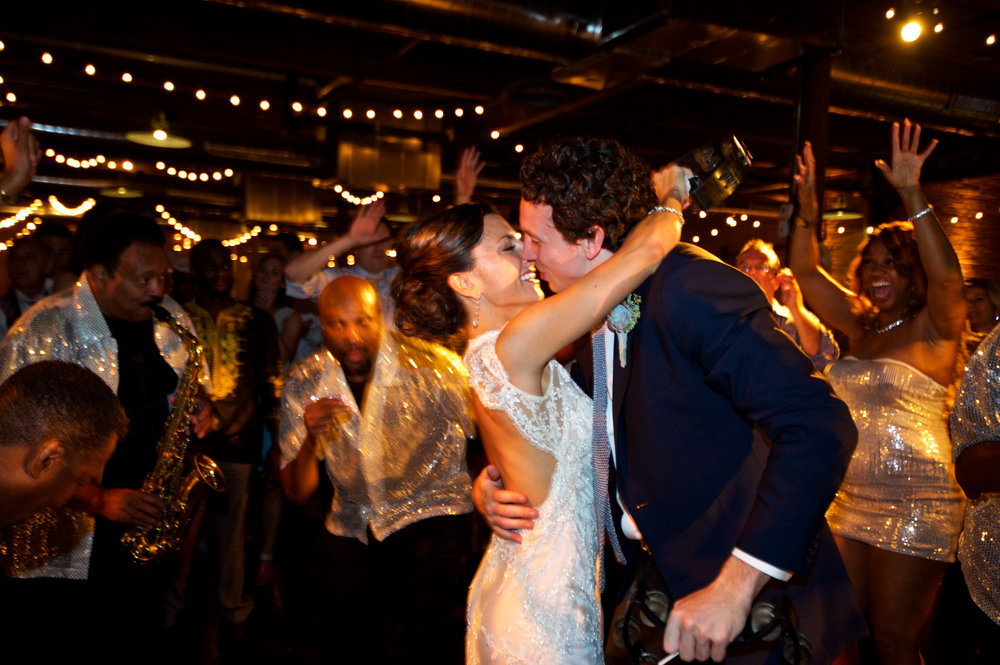 Bride and groom dance at Chicago Wedding