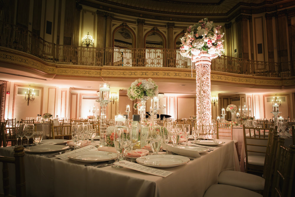 Wedding reception at Palmer House Chicago