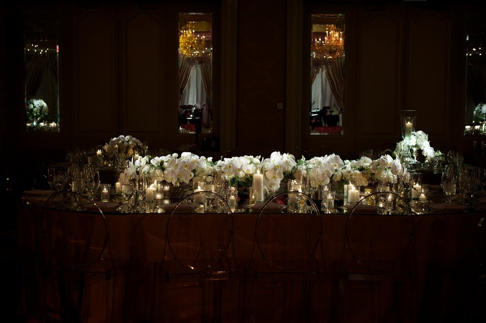 Wedding florals at Four Seasons Chicago