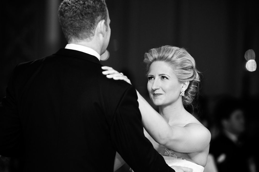 Bride and groom dance at Four Seasons Chicago Wedding