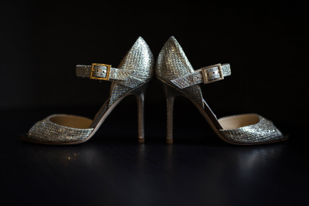 Bridal shoes at InterContinental Chicago