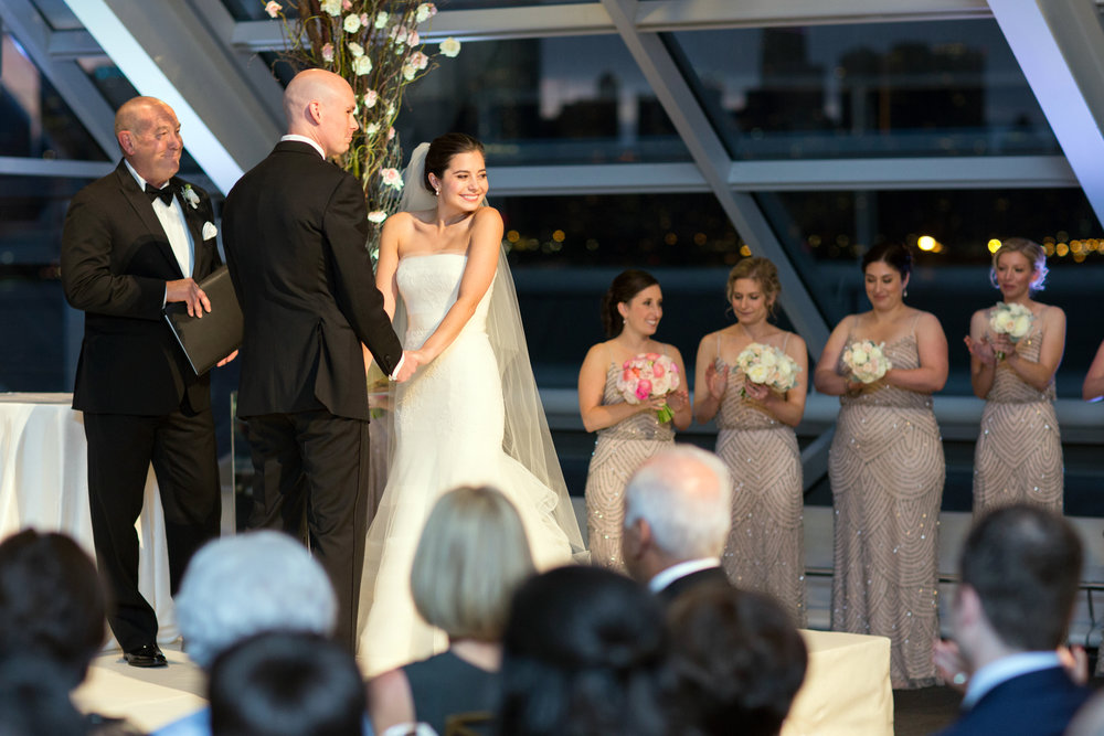 Chicago Autumn wedding at Adler Planetarium.