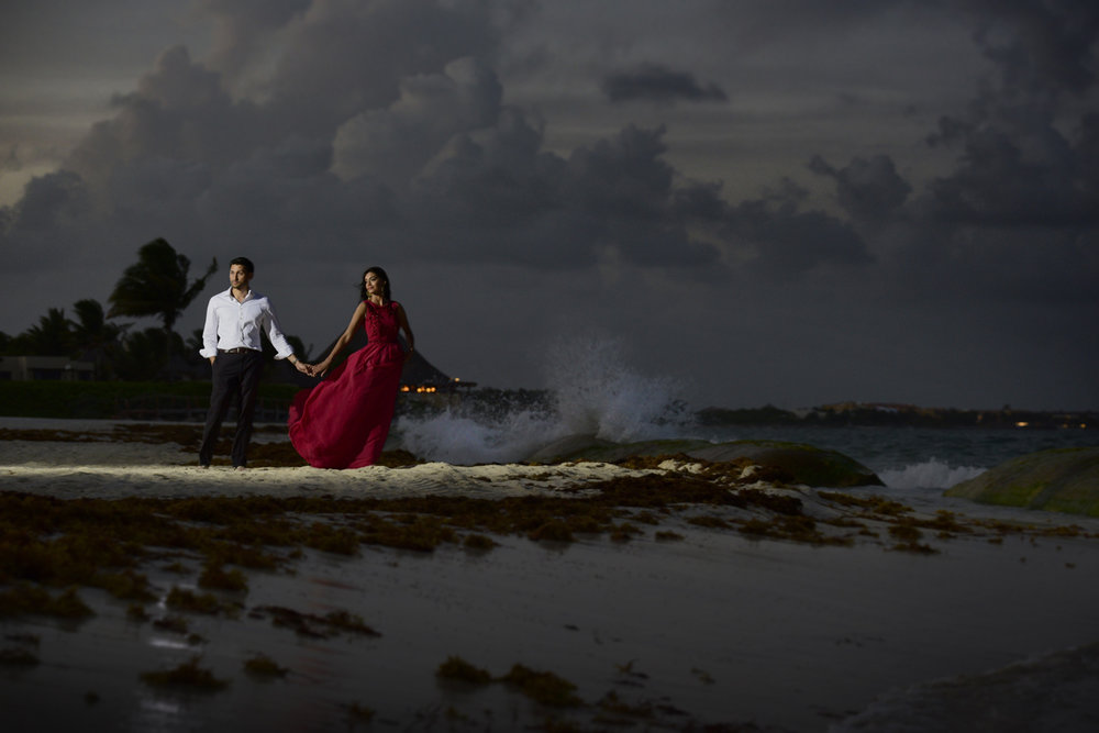 Riviera Maya, Mexico editorial wedding photography.