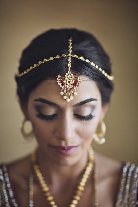 Bridal portrait at South Asian wedding in Fairmont Mayakoba, Riviera Maya, Mexico