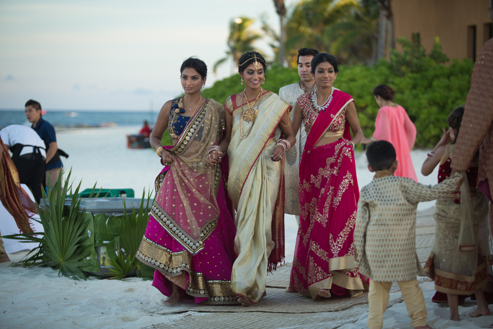 Indian wedding ceremony in Riviera Maya, Mexico
