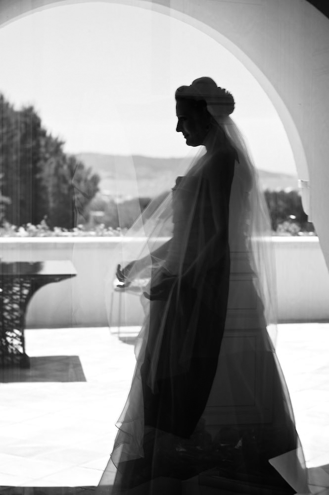 Bridal portrait in Saint Tropez, France