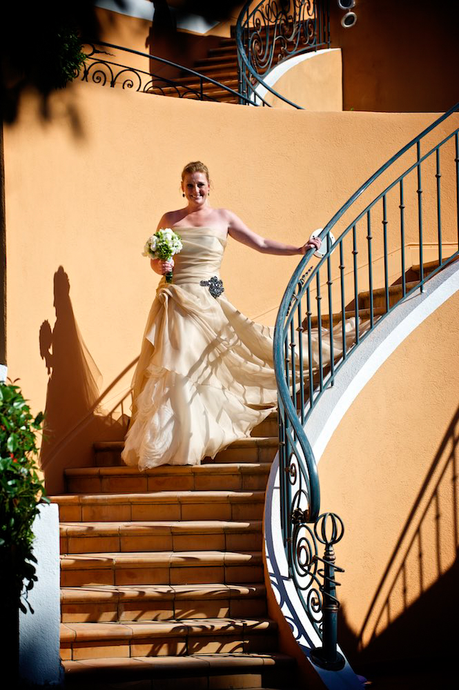 Bride enters wedding ceremony in Saint Tropez, France