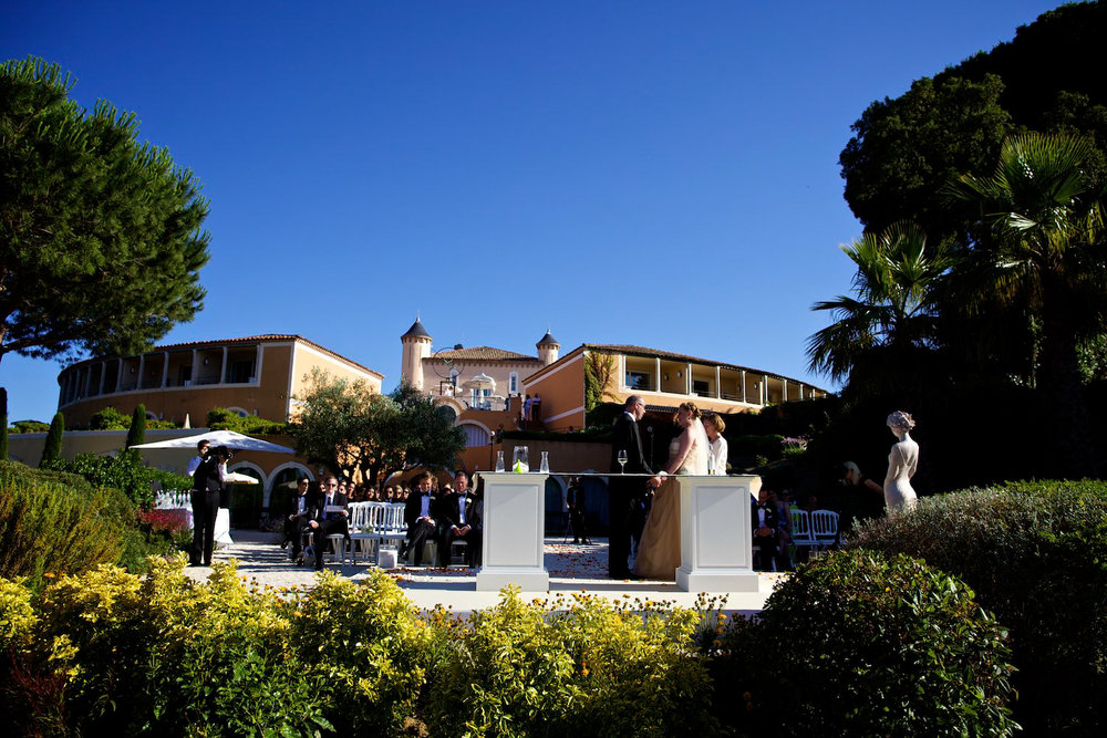 Wedding photography at  Chateau de la Messardiere in Saint Tropez, France
