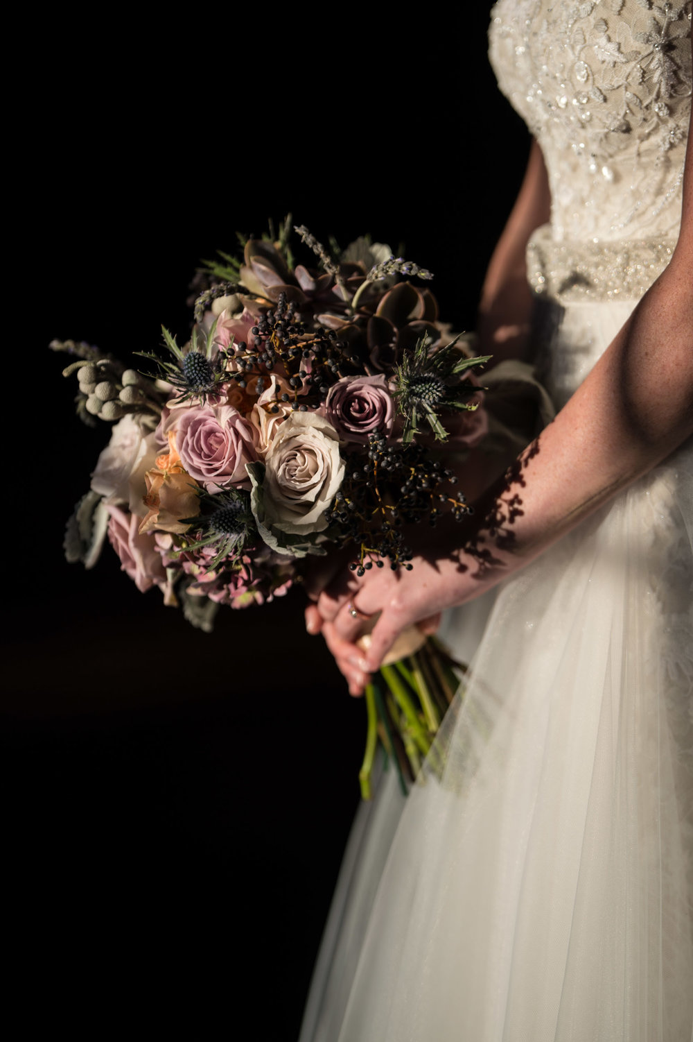 Bridal bouquet at Morgan Manufacturing Chicago