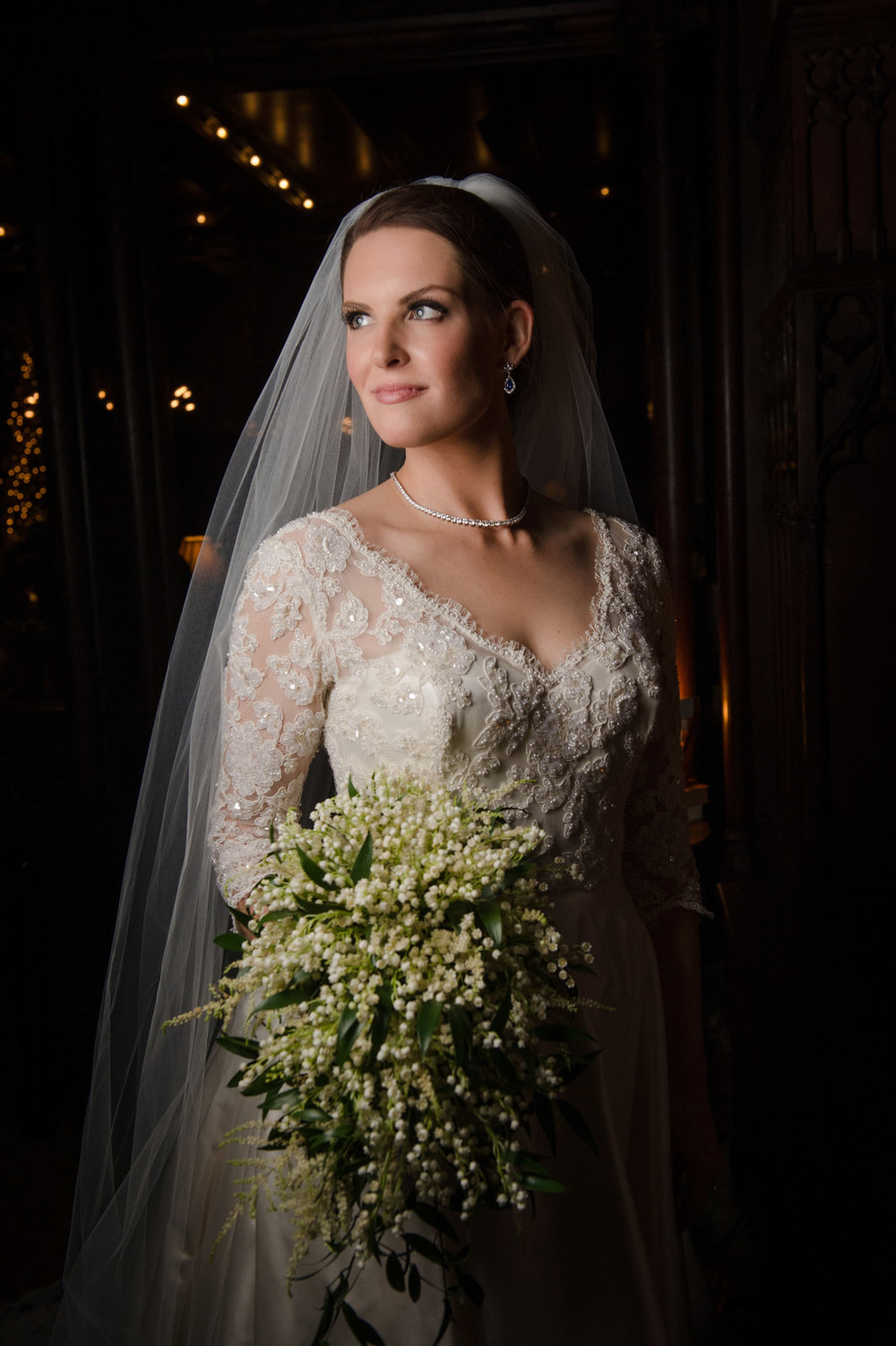Bridal portrait at Chicago Athletic Association