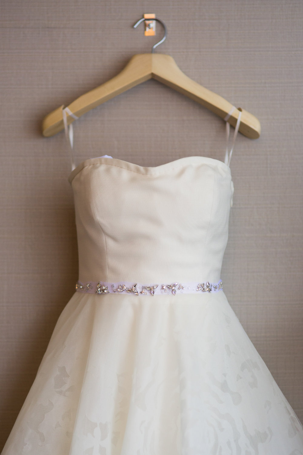 Bridal gown at Westin River North in downtown chicago.