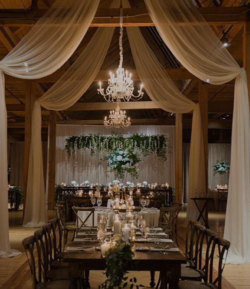 Winter Loft wedding -