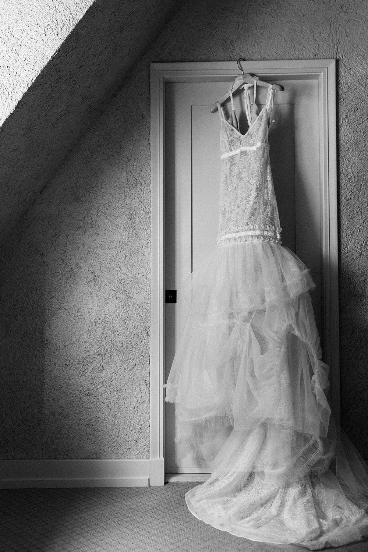 Bridal gown at Riverbend in Kohler