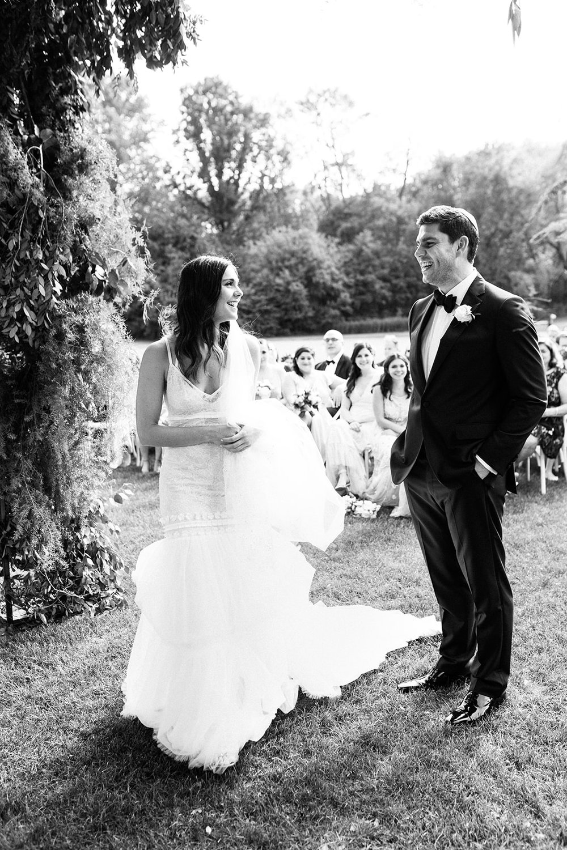 Outdoor garden wedding ceremony by Rishi Patel HMR designs documentary wedding photography