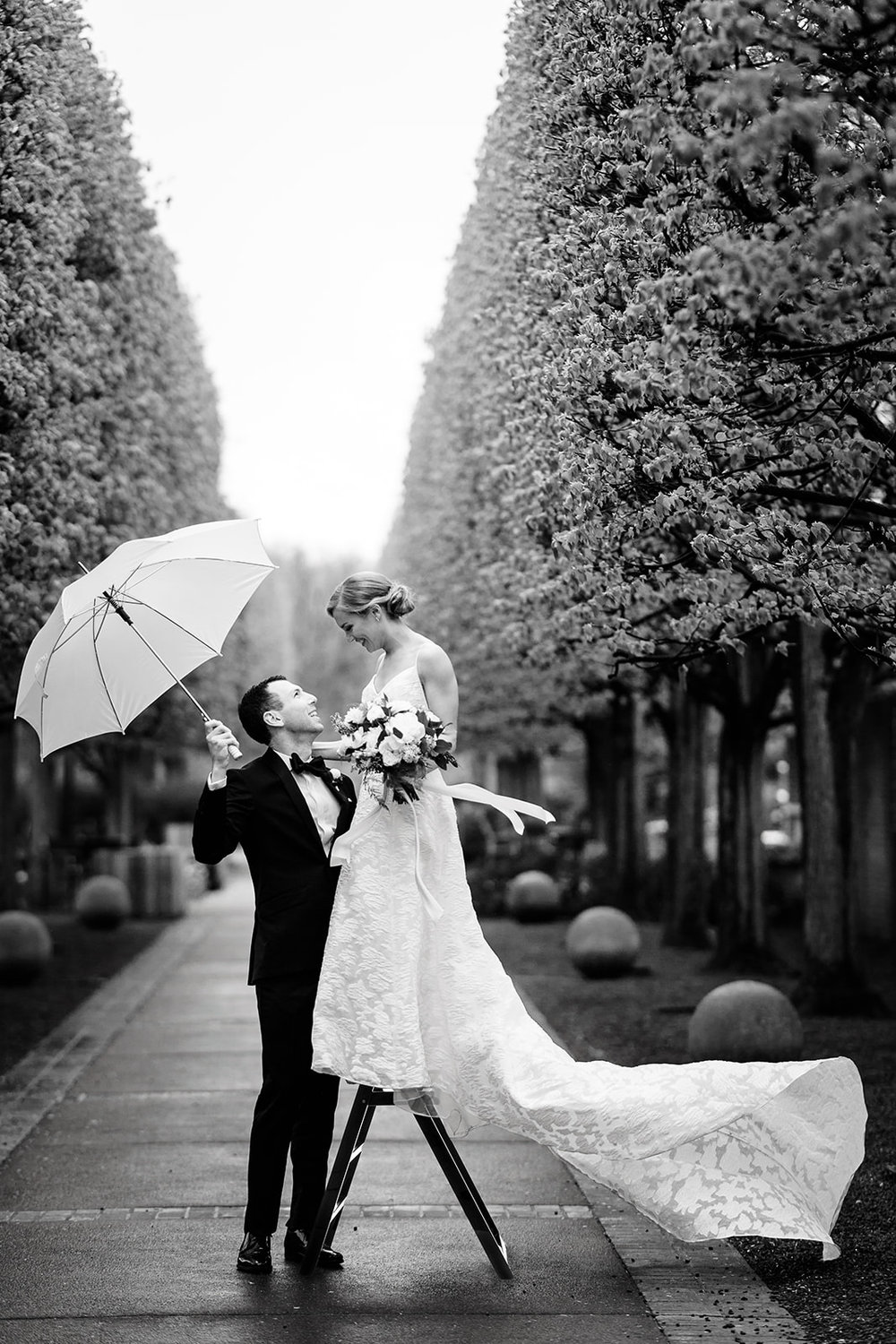 Rodney Smith inspired editorial wedding photography in Chicago