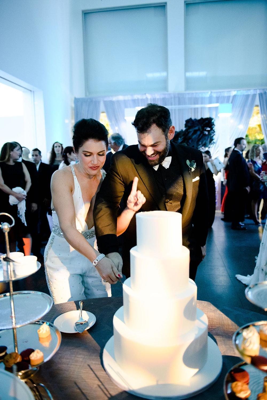 Quartz cake cutting at Chicago Museum of Contemporary Art