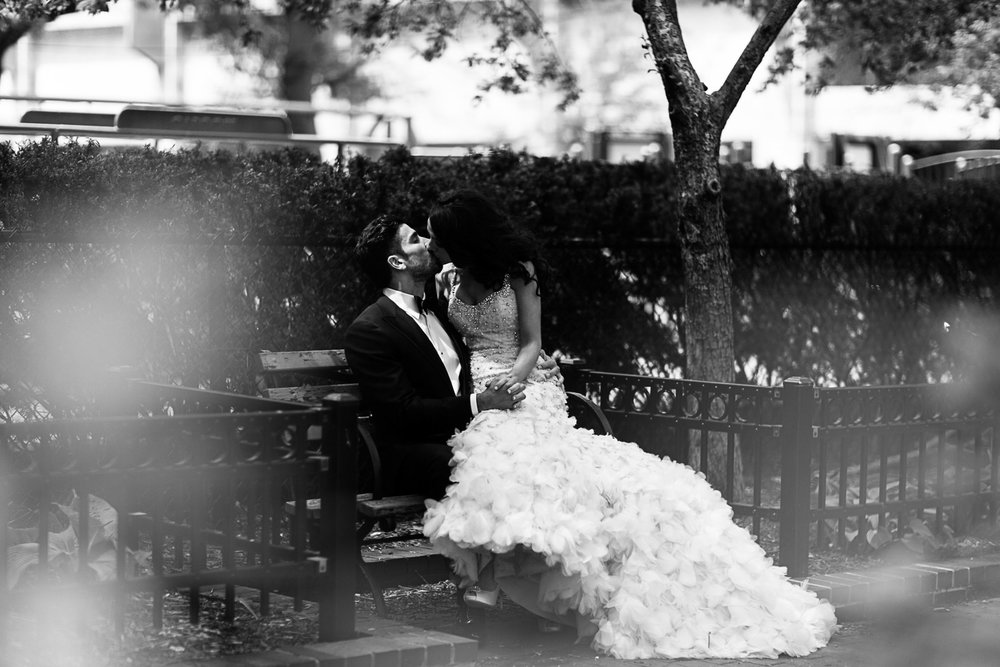 Intimate wedding portraits look more natural and real than stiffly posed stock photos.