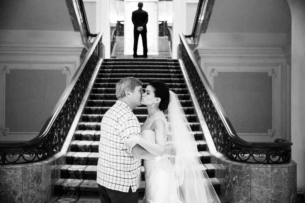Erika's dad walked her to her first look with Phillip and this photograph of the two of them at the bottom of the steps is so sweet.