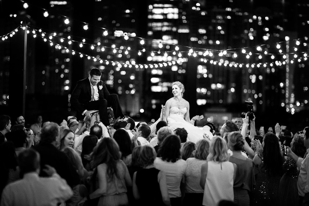 Getting to shoot the hora with the city lights in the background was such a treat.