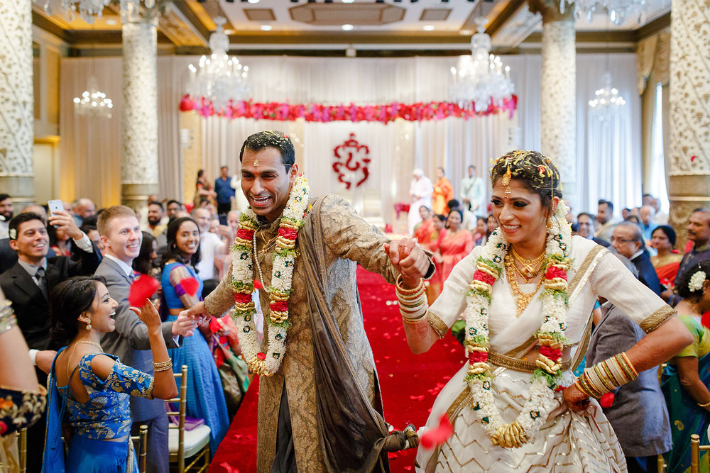 This Indian wedding ceremony at the drake was so joyous and exciting!