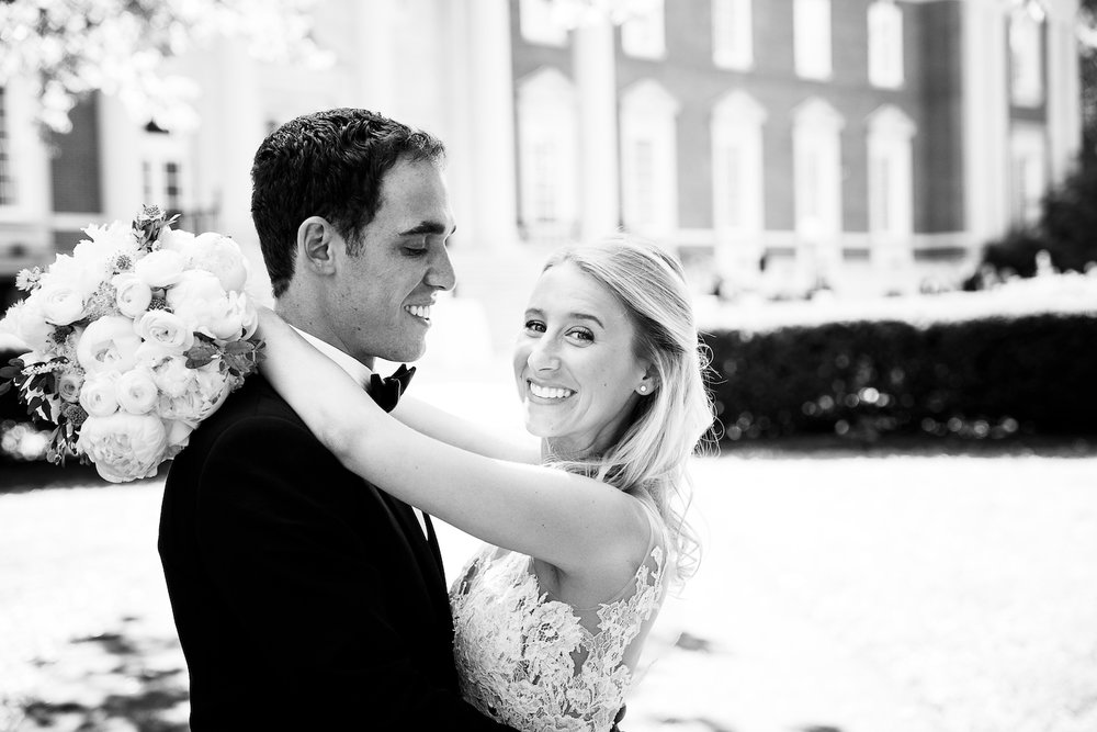 Classic Chicago Wedding Venues like the Chicago History Museum have gorgeous grounds for photographing portraits.