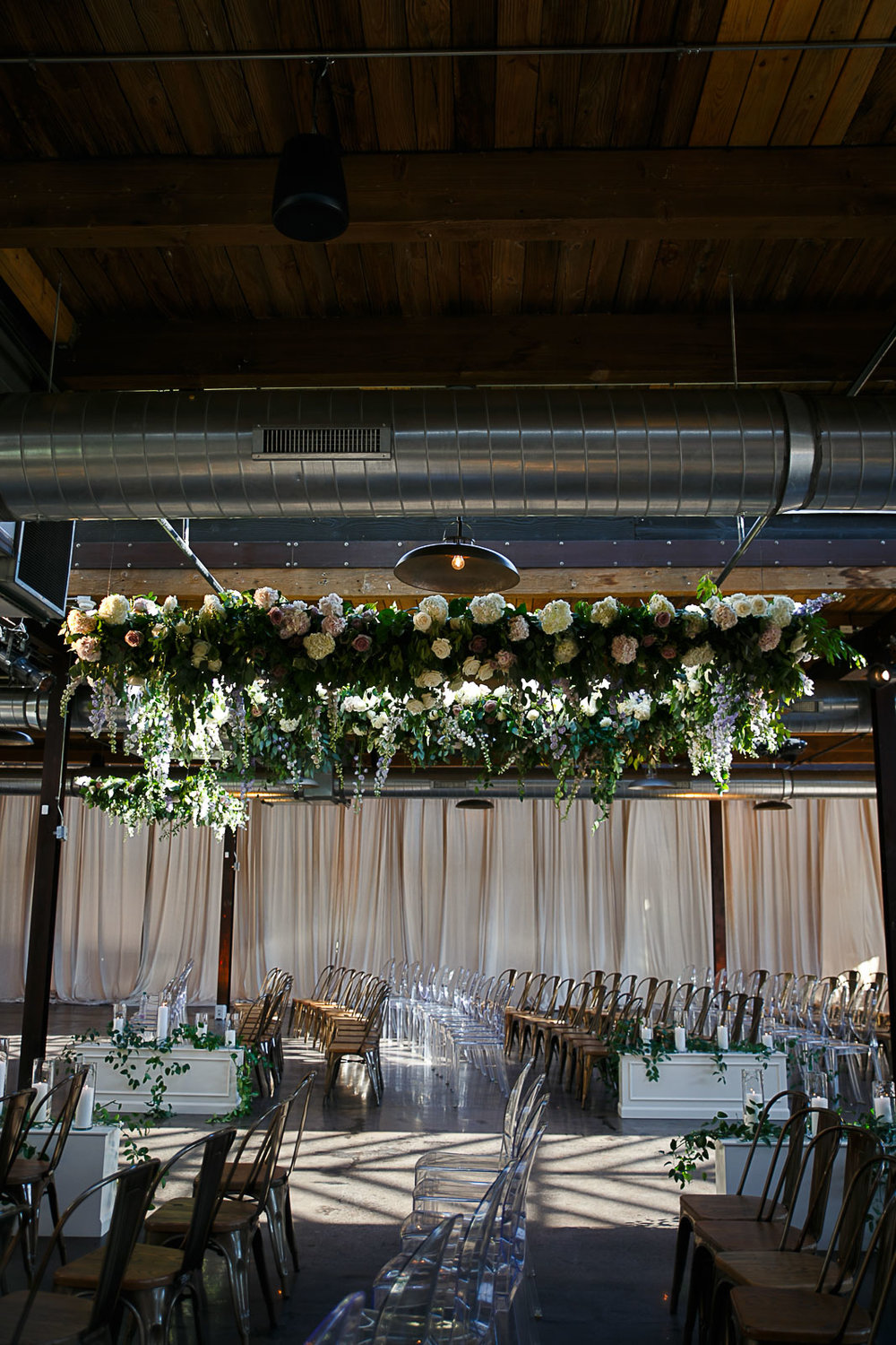 West Loop wedding venues are some of our favorites with spots like Morgan Manufacturing offering an open raw space.